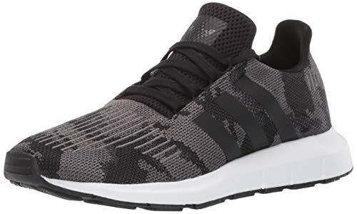 adidas Originals Men's Swift Running Shoe Black/White, 11 M US ()