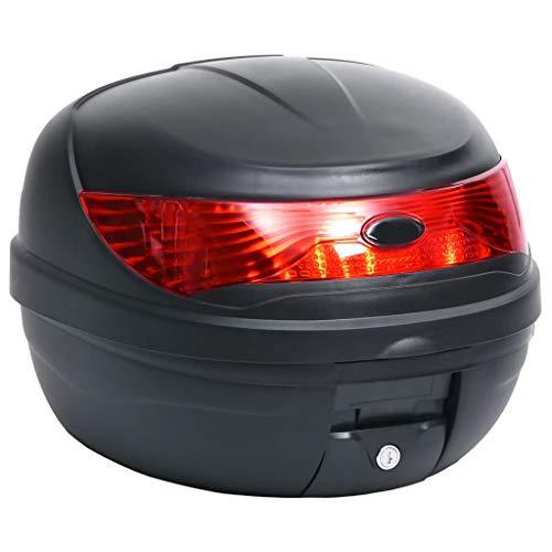 vidaXL Motorradkoffer für 1 Helm Wasserdicht Top Case Motorrad Roller Rollerkoffer Helmkoffer Topcase Koffer…