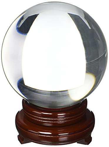 Amlong CrystalClear Crystal Ball 150mm (6 in.) Including Wooden Stand