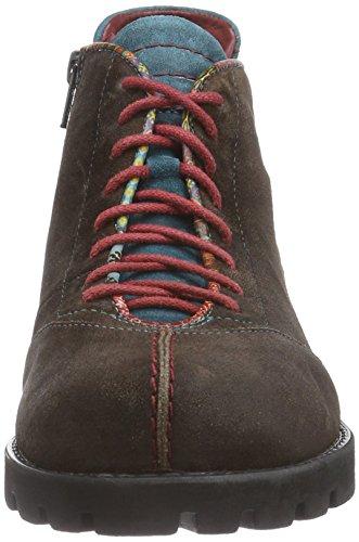 Think! BRACCA Stiefelette - botas de cuero mujer marrón - Braun (ESPRESSO/KOMBI 42)