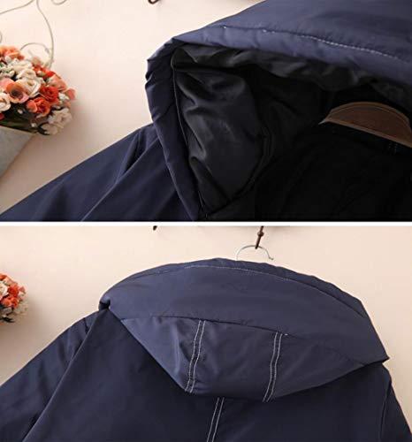 couleur Taille Engrais Suit Veste Pour Femmes La Rembourré Jbhurf Noir Cotton Augmenter D'hiver Xl Hooded OUn4PxP