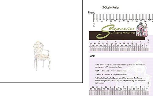 - Superior Dollhouse Miniatures Dollhouse Miniature Bourbon Armchair/white/hp