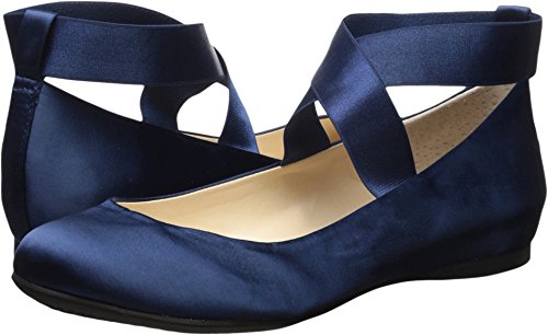 n's Mandayss Ballet Flat, Navy Satin, 7 Medium US (Blue Dress Shoes Women)