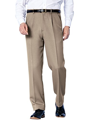 Chums Mens Stretch Waist Durable Cavalry Twill Trouser Pants Office Fawn 46W x 27L