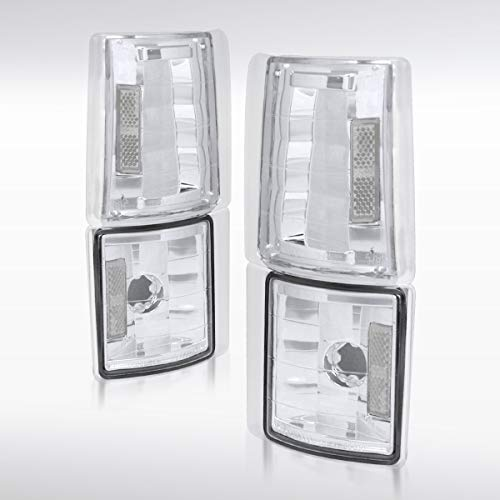 Autozensation For GMC C/K C10 Sierra Pickup Chrome Clear Corner Turn Signal Lights ()