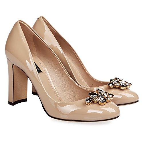 Dolce Gabbana Femmes Pompes De Mode Beige (7,5 B (m) Us)