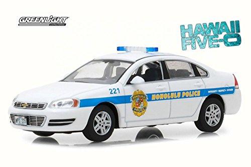 Greenlight 2010 Chevy Impala Police Cruiser - Honolulu Police, Hawaii Five-0 86518-1/43 Scale Diecast Model Toy Car ()
