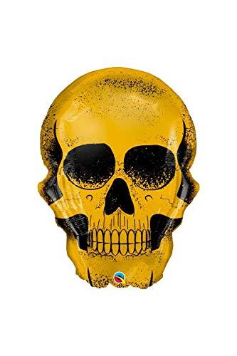 Qualatex Q58135 Halloween Golden Skull 36 inch Supershape Foil Balloon