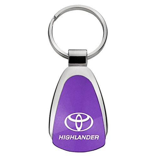 Toyota Highlander Purple Teardrop Keychain INC Au-Tomotive Gold