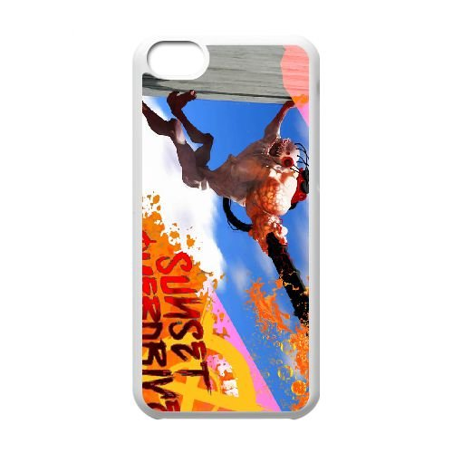 Sunset Overdrive 16 coque iPhone 5c cellulaire cas coque de téléphone cas blanche couverture de téléphone portable EEECBCAAN05848