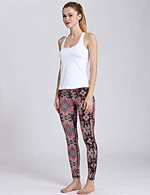 Hioinieiy Womens Various Chic Styles Floral Print Workout High Waisted Patterned Yoga Leggings Pants