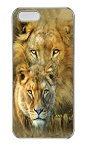 iPhone 5S Case, iPhone 5S Cases -African Royalty Lion Polycarbonate Hard Case Back Cover for iPhone 5/5S Transparent