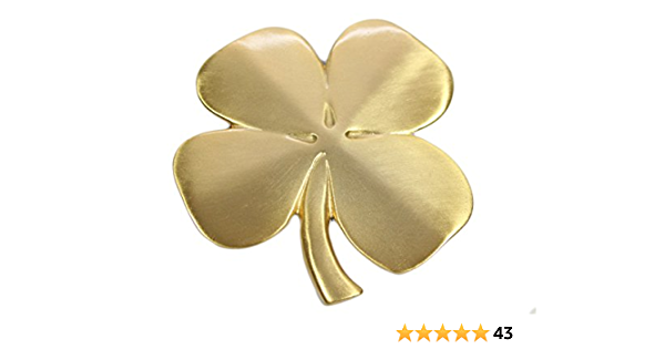 Robert Emmet Co Lucky 4 Leaf Clover Ireland Wall Hanging Gold Lucky Shamrock Plated Pewter Irish Blessing Wall Decor Everything Else Amazon Com
