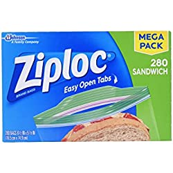 Ziploc Mega Sandwich Bags, 280 Count