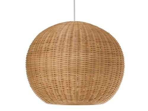 KOUBOO 1050030 Wicker Ball Pendant Light, 18