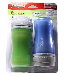Playtex Coolster Twist \'n Click, BPA Free, Leak Proof, 12 Months+, 2 Count (Boy)