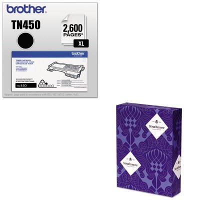 KITBRTTN450STT318003 - Value Kit - Strathmore 100% Pure Cotton Business Stationery (STT318003) and Brother TN450 TN-450 High-Yield Toner (BRTTN450) by Strathmore