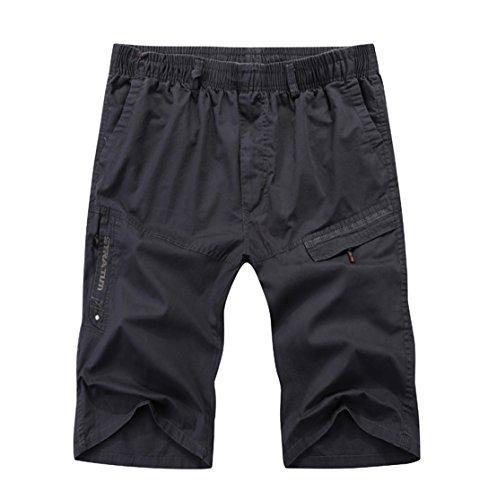 Verde Deporte Grandes Verano hombre Con Cargo Cortos Studio Trabajo Vestir Sk Shorts Bermudas Bolsillos Tallas Pantalones Short wp8Zv