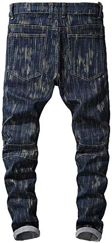 Dunkelblaue Stretch-Denim-Jeans für Męskie in Übergrößen und schmalen Hosen: Odzież