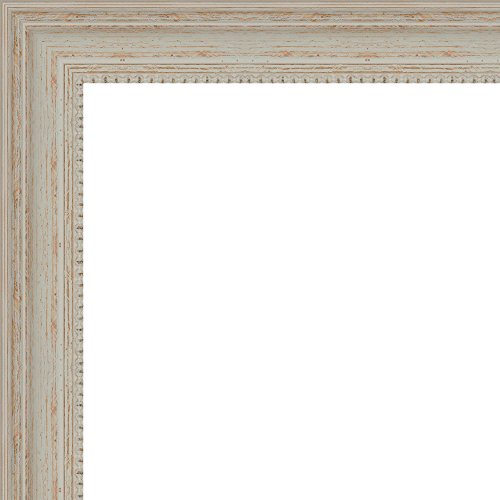 20x24 - 20 x 24 Traditional - Nautical White Washed Wood Frame Solid Wood Frame with UV Framer's Acrylic & Foam Board Backing - Great For a Photo, Poster, Painting, Document, or Mirror by The Frame Shack