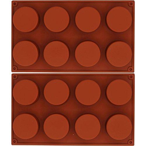 musykrafties 8-cavity CILINDRO Horneado silicona Moldes Para Tarta teacake CHOCOLATE Postres de queso pan maíz Brownie Blancmange Pudin Jabón Cerería Resina ...