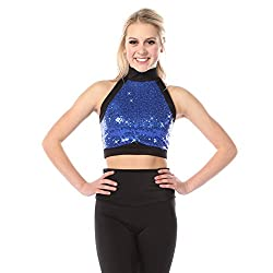 Sequin Crop Top for Women and Girls