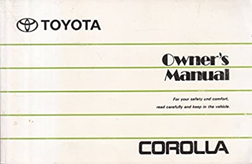 toyota corolla 1998 owners manual toyota amazon com books rh amazon com toyota corolla 1998 service manual free toyota corolla 1998 repair manual