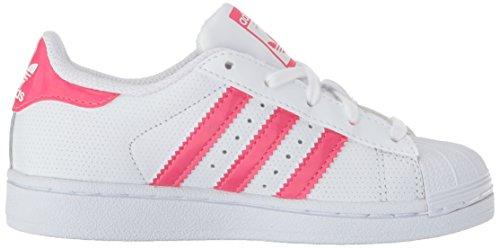 White Real Pink per Superstar Ragazzo adidas Bambini J White Scarpe wzqn46A