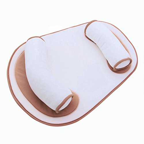 Baby Pillow Anti Roll Auxiliary with Adjustable Body Support Crib Bumper - Infant Nursing Sleeping Pillow, Baby Must Haves Lounger, Baby Bed Mattress for Newbornattress for Newborn by BALMOST