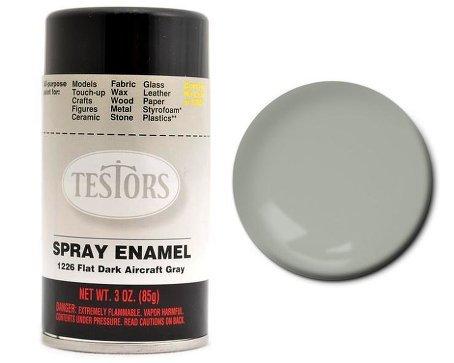 Flat Dark Aircraft Grey Enamel Paint 3oz Spray Can ()