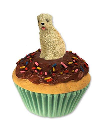 Soft-Coated Wheaten Dog Cupcake Trinket-Keepsake - Coated Wheaten Jewelry Soft