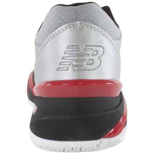 888098149074 - New Balance Men's MC1296 Stability Tennis Tennis Shoe,Silver/Red,10 D US carousel main 6