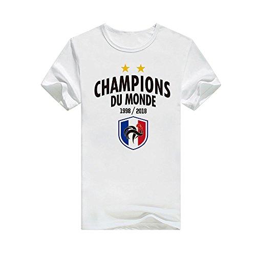 3 Femme Russie Coupe Champions 2018 Du De Laamei T Football France Monde Blanc La Homme shirt ZCUdCw
