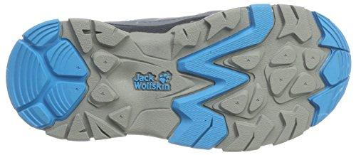 Jack Wolfskin Mtn Attack 2 Texapore K, Zapatos de Low Rise Senderismo Unisex Niños Grau (Icy Lake Blue)