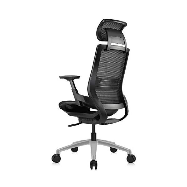 MOOJIRS Chaise de Bureau Ergonomique avec Appui-tête enveloppé et limiteur d'inclinaison   Profondeur du Coussin d…