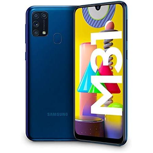 chollos oferta descuentos barato Samsung Galaxy M31 Smartphone Dual SIM Pantalla de 6 4 sAMOLED FHD Cámara 64 MP 6 GB RAM 64 GB ROM Ampliables Batería 6000 mAh Android Versión Española Color Azul
