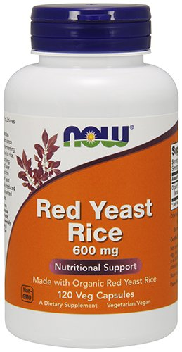 NOW ORGANIC RED YEAST RICE EXTRACT 600 MG - 120 Vegicaps