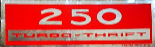 CHEVROLET 250 VALVE COVER RED & SILVER DECAL STICKER NEW ()