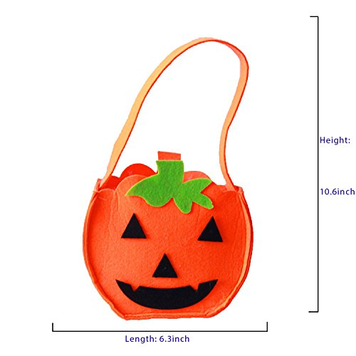 Group Candy Bar Halloween Costumes - Asingeloo 1pc Halloween Pumpkin Bag Candy Bag for Party Costumes Trick Or Treat Bags (HW001-2)
