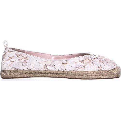 Avec Les Filles Womens Gisella Fabric Closed Toe Espadrille Flats White/Floral HaLTGRQ