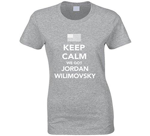Jordan Wilimovsky Keep Calm 2016 Olympics Basketball Ladies T Shirt XL Sport Grey by Mad Bro Tees