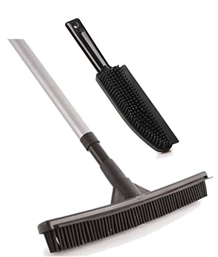 Rubber Broom Brush Set Pet Hair Remover Lint Hand Brush Rubber Sweeping Broom The Dustpan and Brush Store