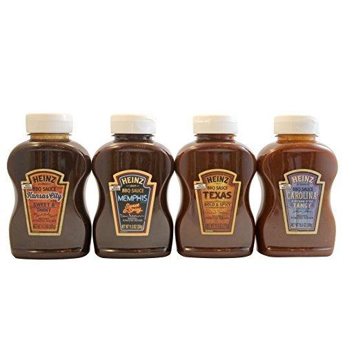 Heinz BBQ Suace Sampler - Variety Pack of Gourmet 100% Natur
