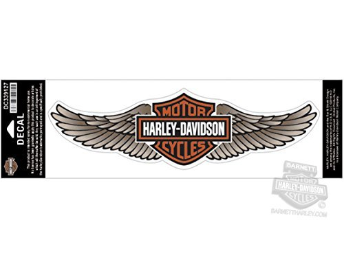 Harley-Davidson Tan Straight Wing B&S 3X Decal
