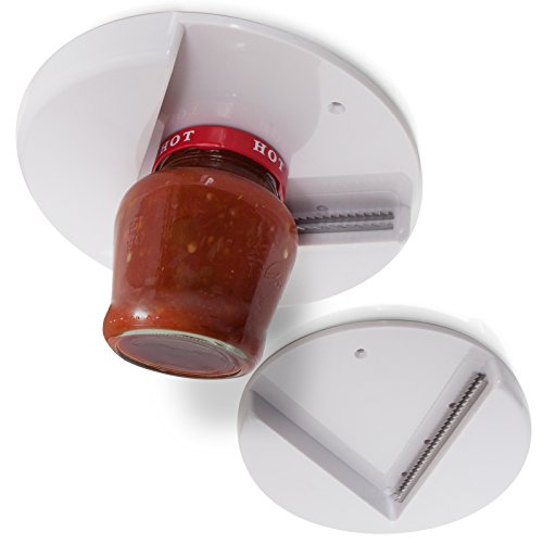 Can Jar Opener - Jar Opener for Weak Hands (Pack of 2) Under Cabinet Lid Openers for Seniors with Arthritis - Cap Remover Easy Twist Off Bottle Opener Jars Kitchen Accessories Tool Counter Top Grip Can Opening Wrench