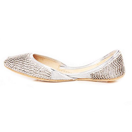 Ballet Shoes UK GS Mujer Plata Shalimar 47zwq