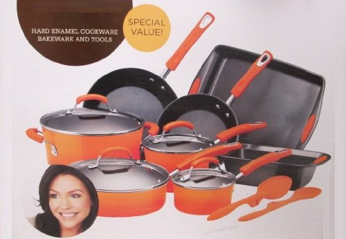 Rachael Ray Hard Enamel Cookware Bakeware Set - 14 piece