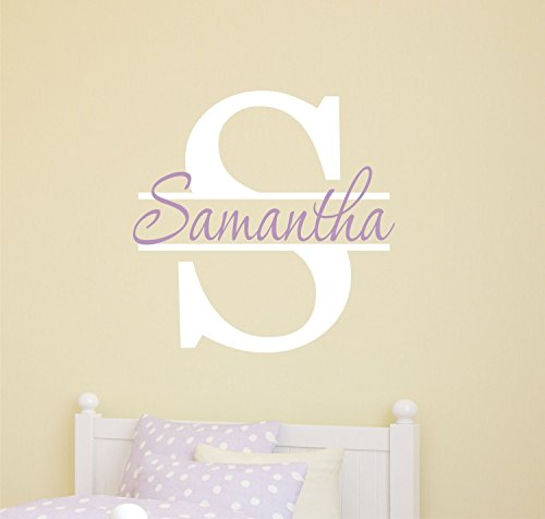 Monogram Wall Decal Nursery Wall Decal for Boys or Girls Kids Wall Art Stickers