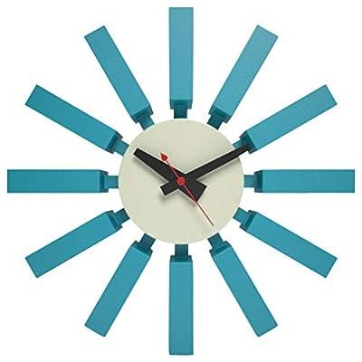 Kardiel George Nelson Block Clock, Light Blue/White