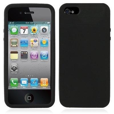 Mxnet Alta calidad de color puro silicio caso para el iPhone 5 y 5s y SE Fundas ( Color : Black ) Black